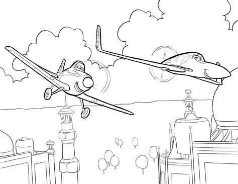 Cartoon Plane Coloring Pages Coloringsuite Com Aeroplane Colouring Page