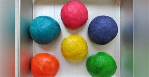 takes  balls  dough  turns   colorful bread
