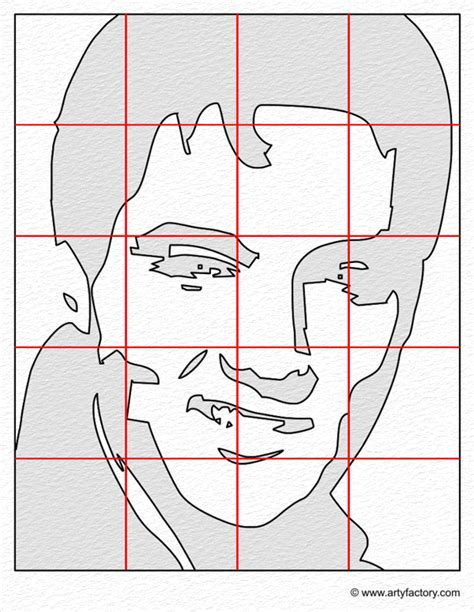 portrait template pop portrait elvis