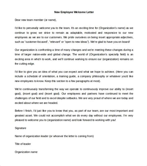 welcome letter to new employee articleezinedirectory