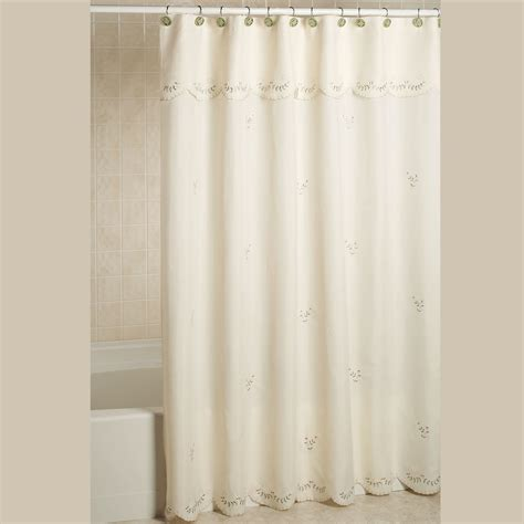 shower curtains forget me not embroidered shower curtain