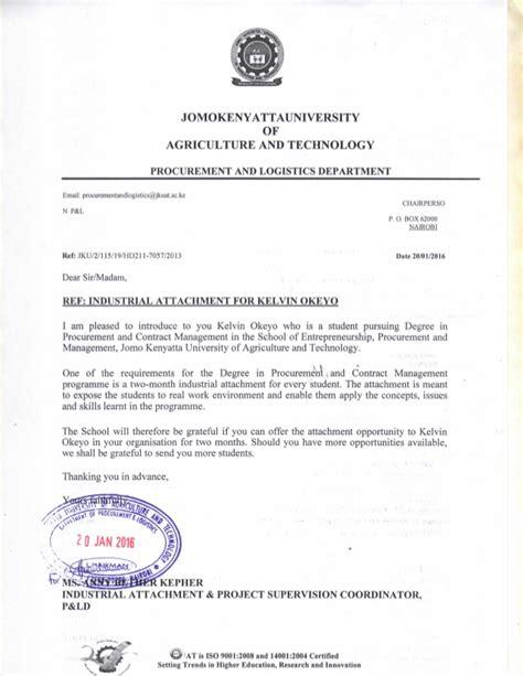 Letter With Attachment attachment jkuat letter