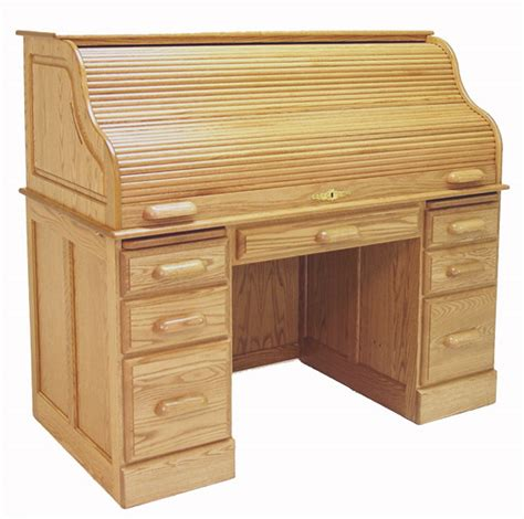 solid oak roll top desk 54 quot w deluxe solid oak roll top desk