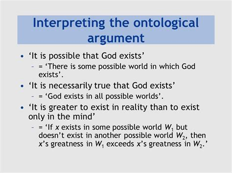 the god argument the plantinga s ontological argument ppt video online download