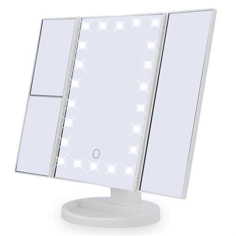 Plastic Vanity Mirror 22 Led Touch Screen Makeup Mirror Tabletop Cosmetic Vanity