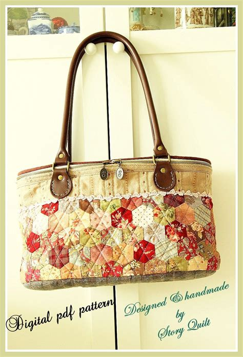 sewing patterns quilted bags digital sewing pattern bag pattern applique quilt