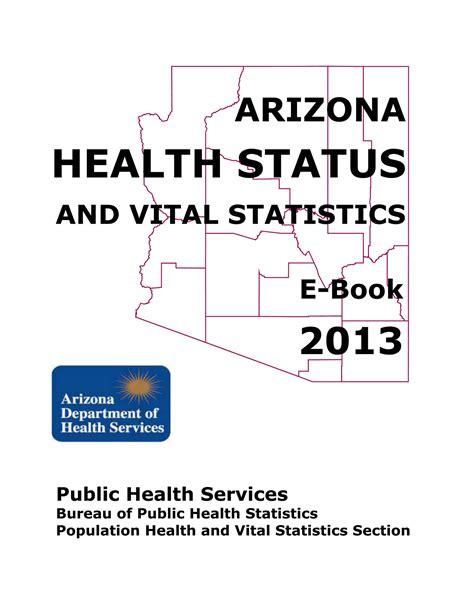 2013 arizona health status and vital statistics report