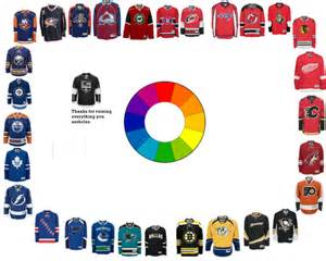 the nhl color wheel battle of california