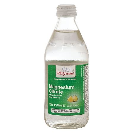 Magnesium Citrate Detox Diet by Walgreens Magnesium Citrate Saline Laxative Solution