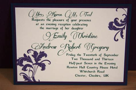 invitation for wedding reception flowery wedding reception invitations criolla brithday wedding