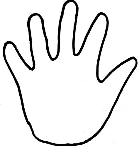 coloring page hands outline of praying hands clipart best