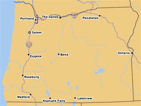 map of oregon 205 oroads interstate 205