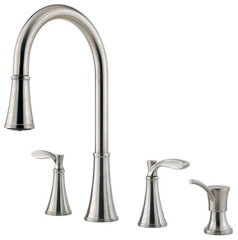 4 hole kitchen faucets price pfister 473295 petaluma 2 handle 4 hole lead free