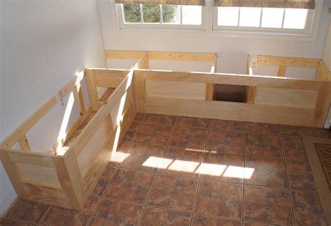 built in bench seat plans kitchen storage bench seat plans