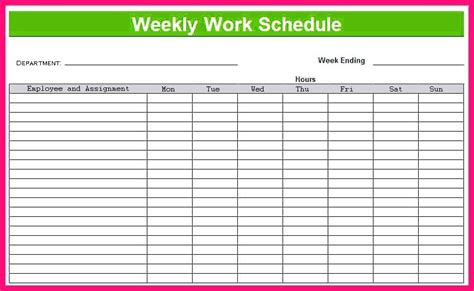 bi weekly work schedule template weekly schedule template excel norstone club