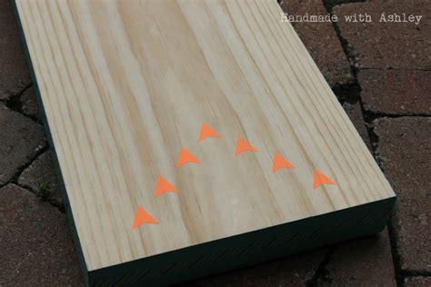 diy bowling lane tutorial handmade  ashley