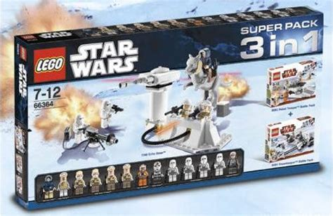 3 In 1 Toys Set sw bricks new lego hoth pack sets 66364 66366