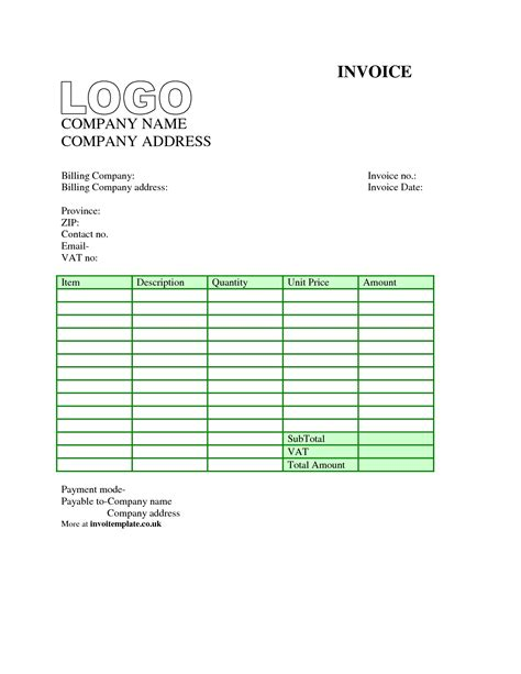 basic invoice template uk invoice template uk word invoice sle template