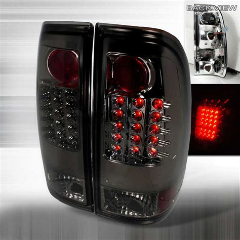 1999 ford f150 tail lights 1997 2003 ford f150 f250 euro led tail lights smoked lt