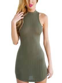 Wrap sexy micro mini short dress sleeveless knit army dress club wear