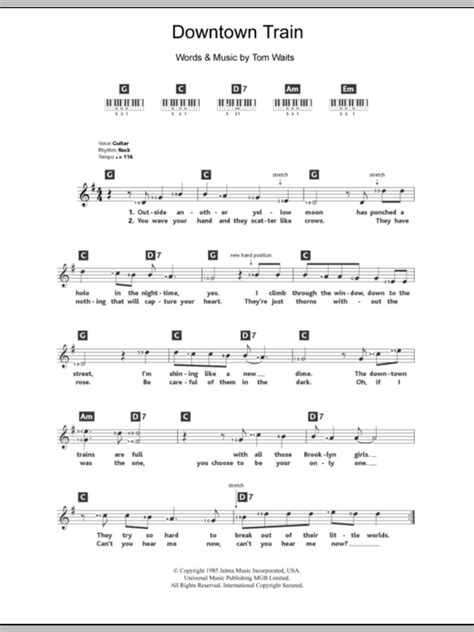 printable downtown lyrics downtown train sheet music direct