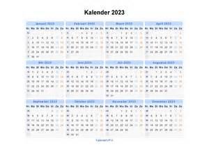kalender 2023 jaarkalender en maandkalender 2023 met