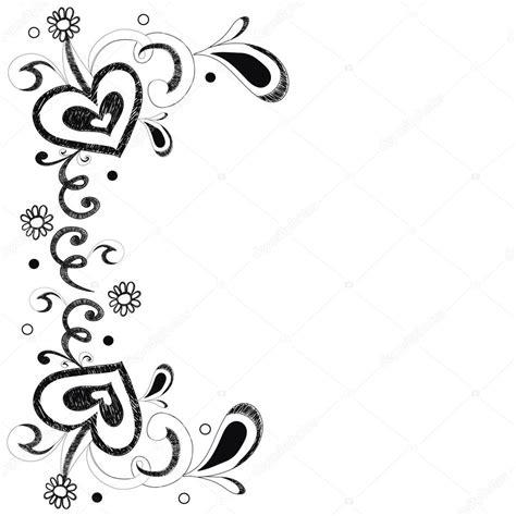 imagenes blanco y negro vectores flor y coraz 243 n blanco y negro la doodle para fondo o