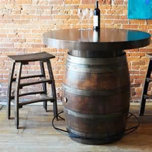 Barrel Bistro Table Wine Barrel Bistro Table The Oak Barrel Company Wine Country Accents
