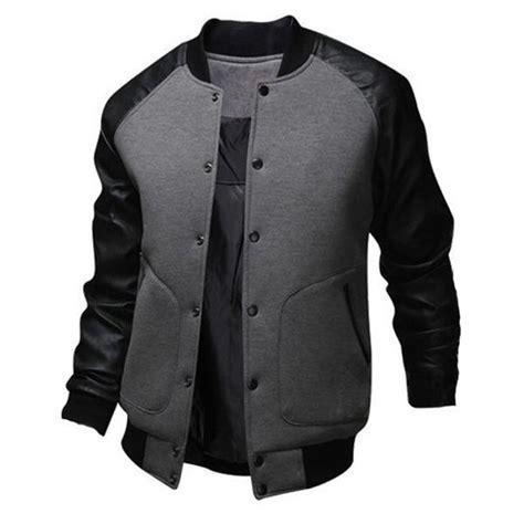 Jaket Pria Bomber Grey baseball style bomber jacket the style brothers