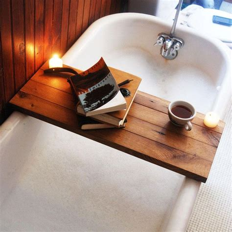 bathtub wood caddy wooden tub caddy in natural