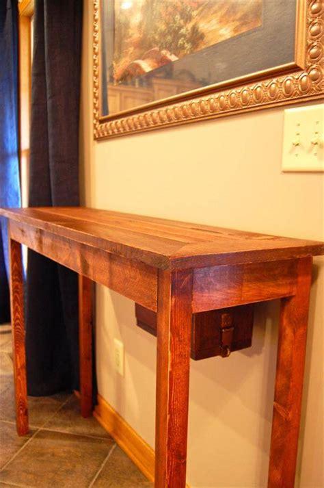 Pallet Console Table Diy Pallet Wood Console Table Pallet Furniture Diy