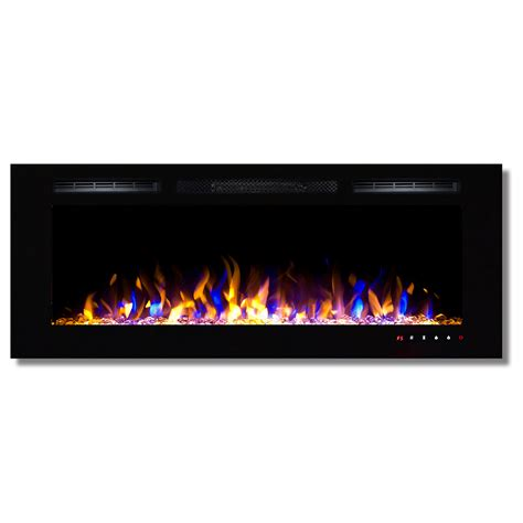 Recessed Electric Fireplace Fusion 50 Inch Built In Ventless Heater Recessed Wall Mounted Electric Fireplace Multi Color