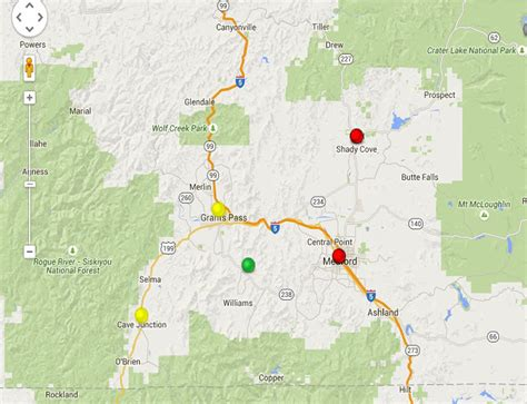 air quality map of oregon oregon smoke information medford and areas of sw oregon