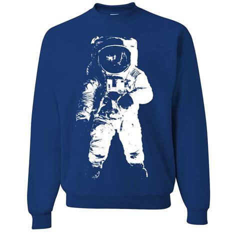 Hoodie Sweater Nasa Premium new space astronaut on the moon crewneck sweatshirt pullover nasa sweater ebay
