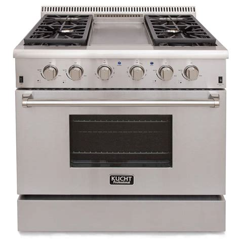 kucht pro style 36 in 5 2 cu ft propane gas range with