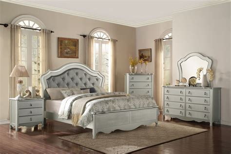 exclusive silver king size bedroom sets ideas with button tufted bedroom furniture project underdog set picture