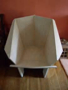 Frank Lloyd Wright Origami Chair - frank lloyd wright origami chair plans woodguides