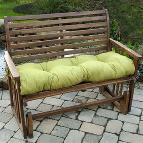 bench swing cushion greendale home fashions 46 in outdoor swing bench cushion