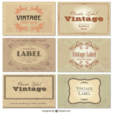 Adressaufkleber Download Kostenlos by Vektor Set Vintage Etiketten Download Der Kostenlosen Vektor