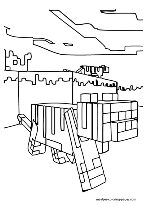 minecraft animal coloring pages printable minecraft coloring pages animals coloring home