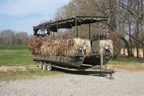 duck hunting pontoon boat pontoon duck blind img 7677