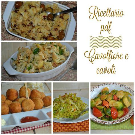 ricettario cucina pdf ricettario pdf cavolfiore e cavoli in cucina con il