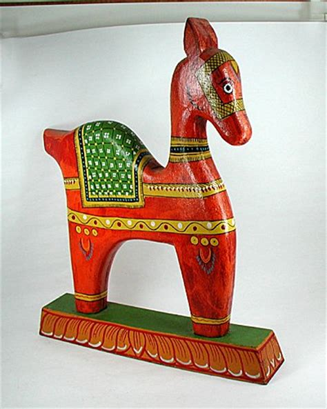 large wooden vine horse sculpture vintage home warehouse vintage horse statue hand painted wood from india