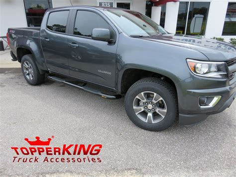 2016 Chevrolet Colorado Side Steps by Grey Chevrolet Colorado With Black Out Nerf Bars