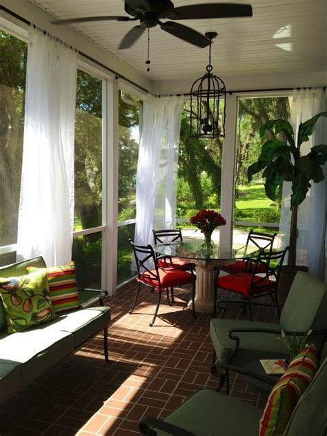 curtains for sun porch screened patio curtain decorating ideas screened porch