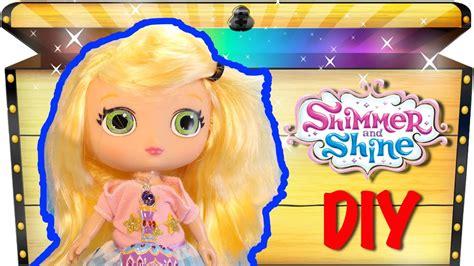 nickelodeon shimmer  shine toys diy leah doll