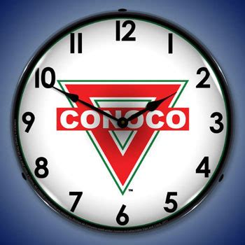 clock themes mobi lighted conoco gasoline clock from garage art llc