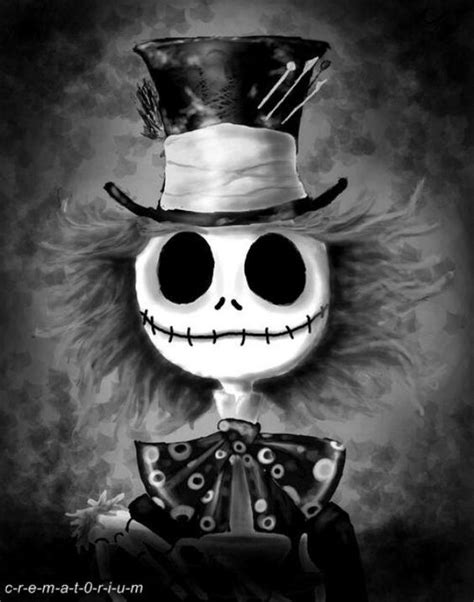 imagenes de jack esqueletor tim burton mesh jack skellington and the mad hatter
