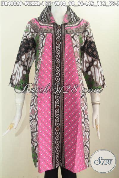 Iqlima Dress M 96 L 98 dress batik terkini busana batik modis dan keren dengan