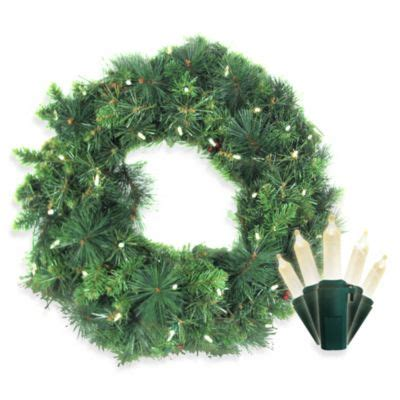 bed bath and beyond anchorage brite star battery operated 35 count white led anchorage fir pine wreath